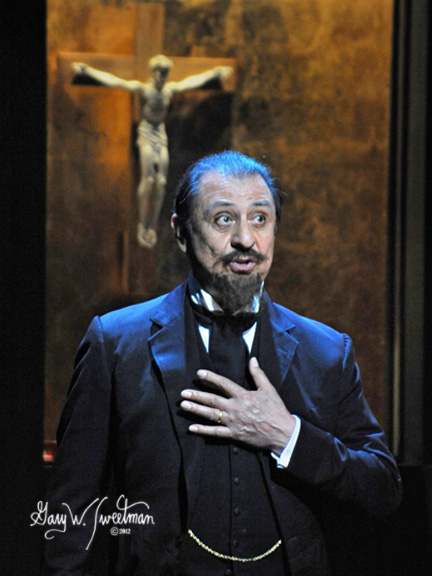 EMILIO DELGADO (recognize him as Luis from Seasame Street?) as King Claudius in Hamlet Prince of Cuba.