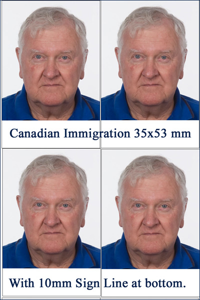 correct canadian immigration photo photograph 35x53 sign line