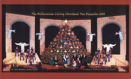 Living Christmas Tree Nazarene Bradenton Florida Christmas