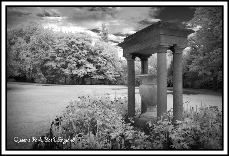 Infrared photo Queens's park Bath England Folly Sweetman photo