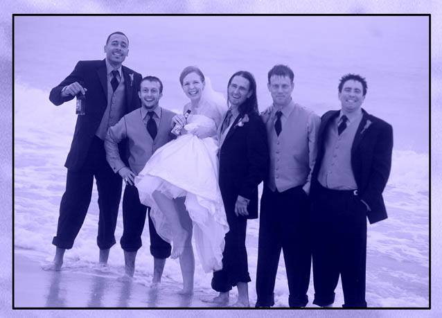 A Beach Wedding in Blue and White photojournalism fun pix