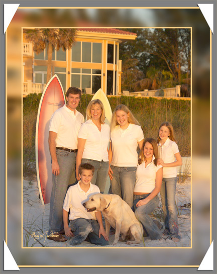 Family Portrait on sarasota beach Longboat Key