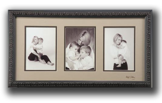Sepia and White Framed Triptych