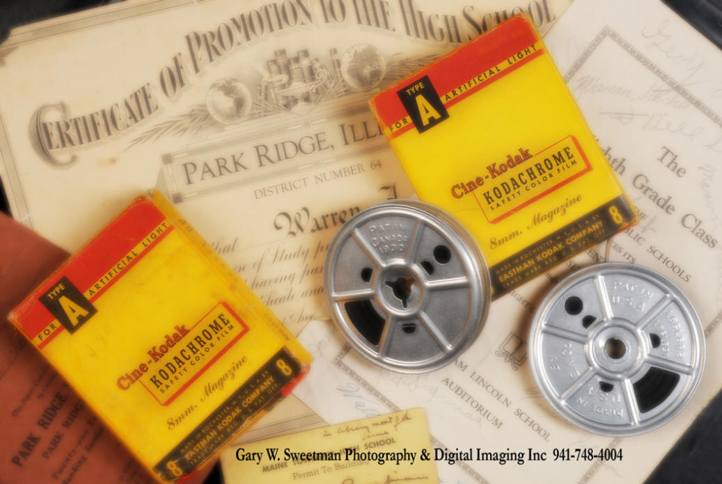 transfer your old 8mm, super 8, 16mm, VHS and Beta tapes to DVD.