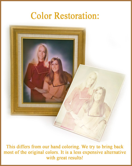 fixing faded color photos, restore faded color photograph, bring back original colour, colour photo fix up