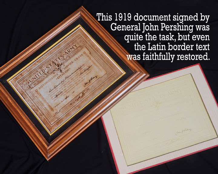 General Pershing signed document for Kirby Stewart US Army